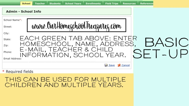 free online homeschool lesson planner our homeschool treasures